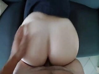 18 years old with a big ass gets shoved from behind 5