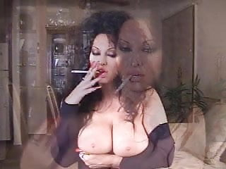 Hot Brunette Mature Smoking 120s Solo