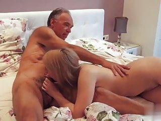 of Grandpa mouth in young cumming girl fucking