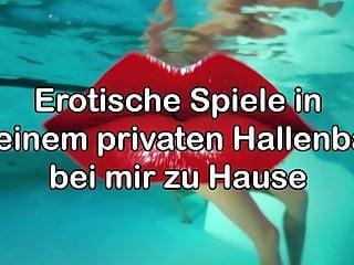 Swiss Eva in her private swimming pool