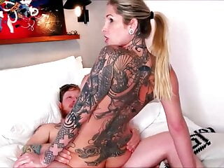Incredibly hot shemale taking her lover's cock in her asshol