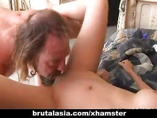 Keanni lei asian holes gaped in threesome...