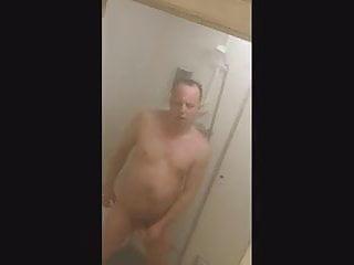 Toby showers public shower...
